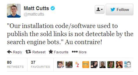Matt Cutts pénalise backlinks.com