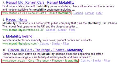 Exemple page résultat Google