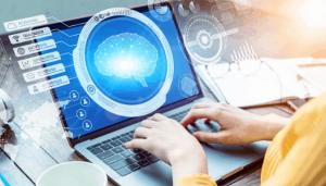 Machine Learning cerveau sur un écran d'ordinateur
