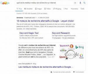 Exemple indexation de passage Google